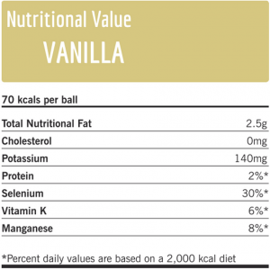 Nutritional value vanilla