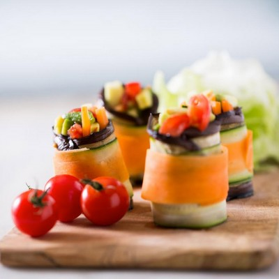 Courgette and Carrot Roll