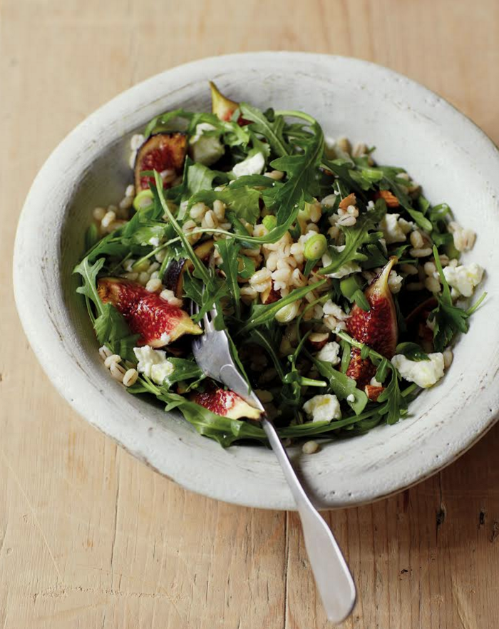 BARLEY SALAD WITH FIGS AND ROCKET pic