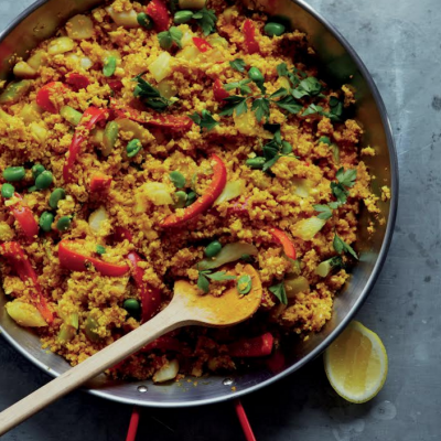 CAULIFLOWER AND VEGETABLE PAELLA pic