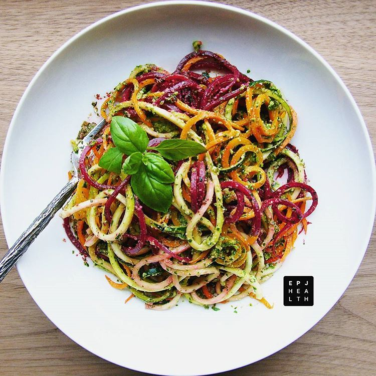 Getting ready for summer with this Spiralized Tricolor Spaghetti withhellip