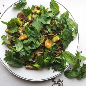Brussels Sprouts with Lentils